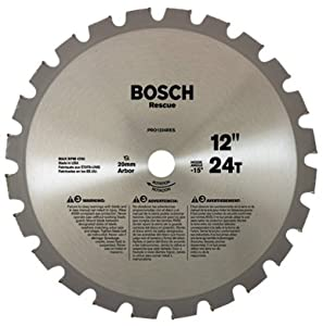 Bosch PRO1424RES 14-Inch 24 Tooth TCG Rescue Saw Blade with 1-Inch Arbor