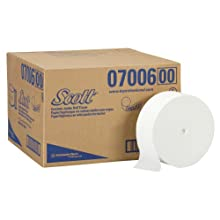 Kimberly-Clark Scott 07006 Coreless JRT Jr Bathroom Tissue for Manual JRT Dispensers, 1150&#039; Length x 3-49/64&#034; Width, White (Case of 12)