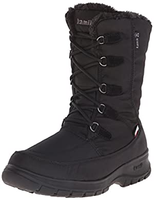 Kamik Women's Brooklyn Snow Boot, Black, 11 M US