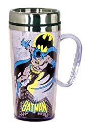 DC Comics Batman Insulated Travel Mug, Black