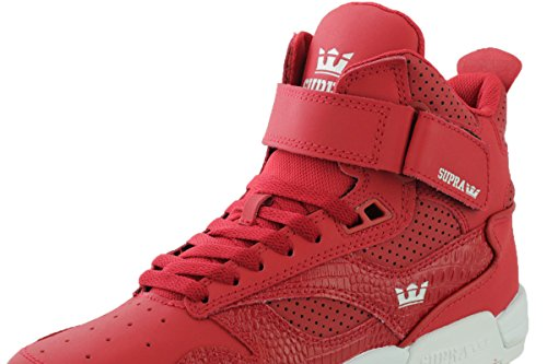 Supra Bleeker Cardinal Crocodile Embossed Leather Sneaker Men's 8, Women's 9.5 D – Medium