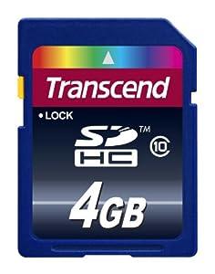 Transcend 4 Go Carte mémoire SDHC Classe 10 TS4GSDHC10E [Emballage « Déballer sans s'énerver par Amazon »]