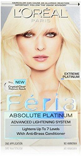 L'Oreal Feria Absolute Platinums Hair Color, Extreme Platinum 1 ea (Pack of 2) (Loreal Paris Absolute Platinum compare prices)