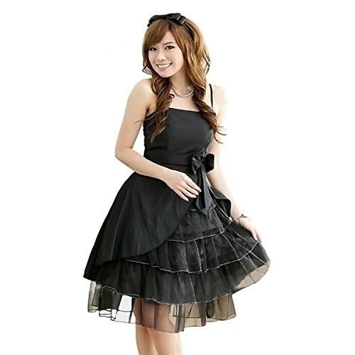 ESTERA レディース パーティードレス 大きいサイズ 結婚式 4L 黒 膝丈 ノースリーブ (ブラック)