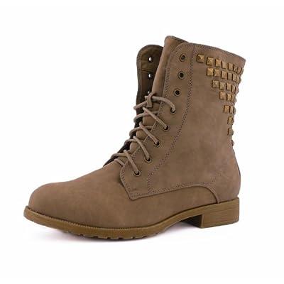 Best boots damen boots schnürer stiefelette stiefel gefüttert nieten