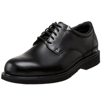 Thorogood Men Classic Black Leather Academy Oxford Service Uniform Shoe- 3 M