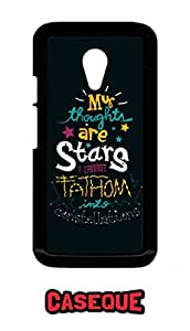 Caseque My Thoughts are Stars.. Back Shell Case Cover for Moto G (2nd Gen.)