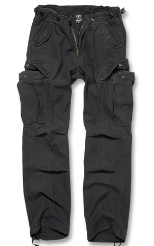 Brandit M65 Ladies Pantaloni Donna Pantaloni Cargo B-11001 - cotone, Nero, 100% cotone, Donna, 27W