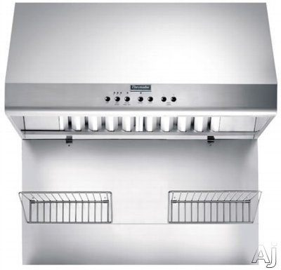 Thermador Professional PH36CS Pro-Style Canopy Wall Hood  ->  Note :  Item Pictured with optional Keep-Hot Shelf
