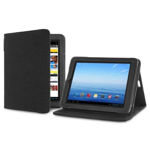 Cover-Up Nextbook Premium8HD (NX008HD8G) (8-inch) Tablet Version Stand Natural Hemp Cover Case - Carbon Black at Electronic-Readers.com
