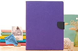CZap Mercury Diary Goospery Card Wallet Flip Cover Back Case for Samsung Galaxy Tab S2 - Purple Blue