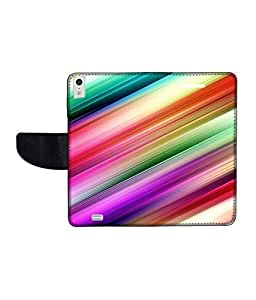 KolorEdge Printed Flip Cover For Gionee Elife S5.5 Multicolor -(50KeMLogo12340GioneeS5.5)