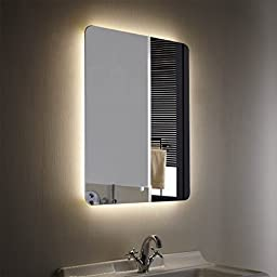Decoraport Vertical LED Bathroom Silvered Mirror with Touch Button / 24 Inch * 32 Inch (Yj-2027h)