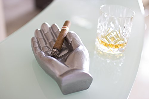 Cast Iron Hand Cigar Ashtray For Cigars Cigarettes Or