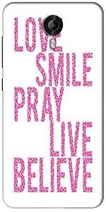 Snoogg Live Believe Designer Protective Back Case Cover For Micromax Canvas Nitro 3 E455