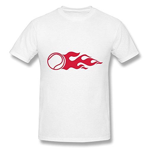 Jeff Men'S Tennis Fire Tee Shirt White X-Small