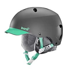 Buy Bern Unlimited Ladies Lenox EPS Matte Finish Snow Helmet with Grey Liner by Bern Unlimited Inc.