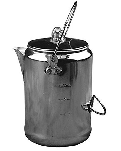 Coffee Pot Camping 9-Cup Rust Resistant Aluminum Maker Percolator Outdoor Tea Camp Vintage