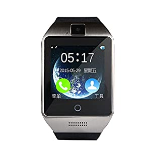 PowerLead Pwah Apro Smart Watch Phone Bluetooth 3.0 Watch LCD Touch Intelligent Wristwatch With Camera NFC Support SIM Card Tracking Phone Anti-lost Call Message Sync for Andorid Smart phones(White)