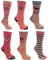 6 Paar Mädchen Lange dicke Winter-Welly Socks