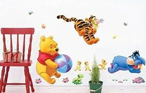 winnie the pooh de los niños etiqueta de la pared - BebeHogar.com