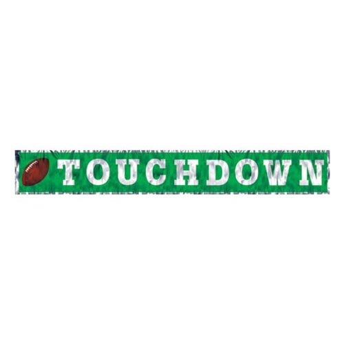 Metallic Touchdown Fringe Banner Party Accessory (1 count) (1/Pkg)