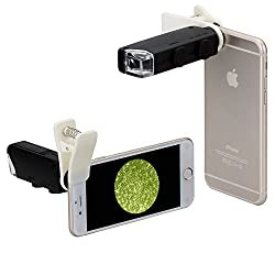Neewer 10082691  60x-100x Optical Zoom Mobile Phone LED Microscope Lens with Universal Clamp for iPhone 6S plus/6S/6/6plus/5 5c 5s, Samsung Galaxy S5 G900H /S4 i9500/S3 i9300/ Note 2 II/ Note 3 III/Note 4 IV
