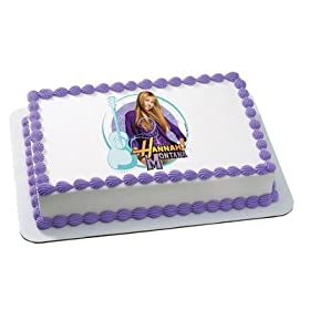 Hannah Montana Popstar Birthday Cake Edible Image