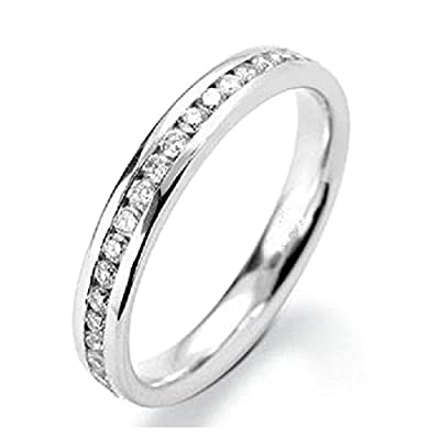 Brand New 2.5 mm 0.33 Carat Round Diamond Channel Set Half Eternity Ring