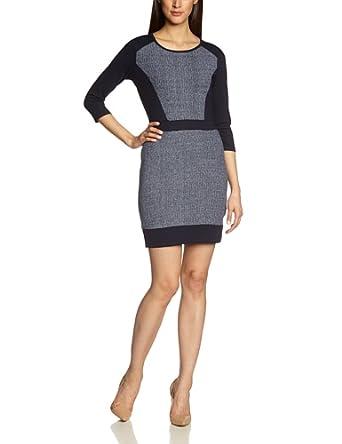 ESPRIT Damen Kleid (knielang) 014EE1E011, Gr. 42 (XL), Blau (406 CINDER BLUE)