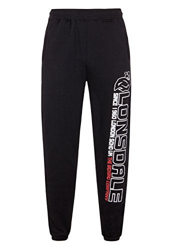 Lonsdale -  Pantaloni sportivi  - Uomo nero 54