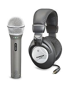 Samson Q2U Handheld Dynamic USB Microphone with Headphones and Accessories