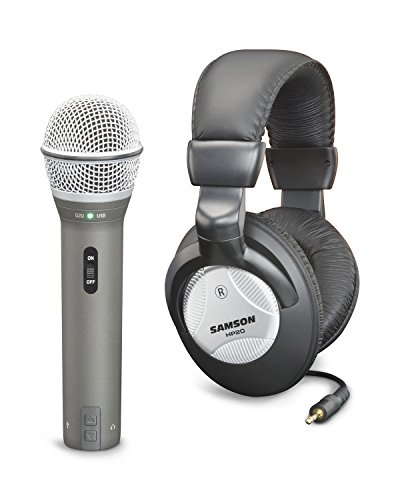 Samson Q2U USB/XLR Microphone with HP20 Headphones