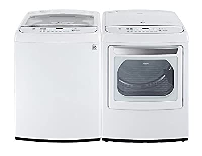 LG POWER PAIR SPECIAL-Mega Capacity High Efficiency Top Load Laundry System with ELECTRIC Dryer *Pure White* (WT1701CW_DLEY1701W)