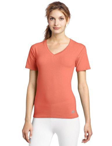 Ayg Women's Cotton Short Sleeve V-Neck Shirt