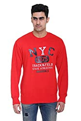 Round Neck - Red - SWEATSHIRT for men by COLORS & BLENDS