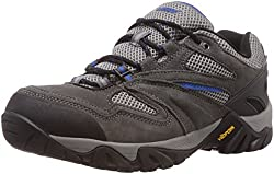 Hi-Tec Men's Charcoal, Graphite and Blue Leather Trekking and Hiking Boots - 9 UK
