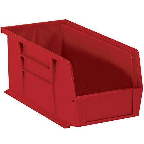 Aviditi BINP1487R Plastic Stack and Hang Bin Boxes, 14 3/4