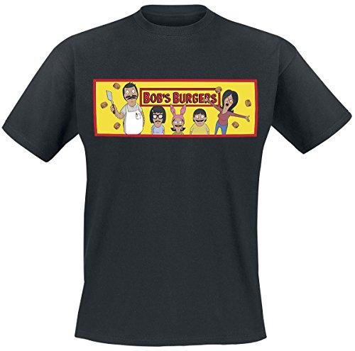 Bob's Burgers Raining Burgers T-Shirt nero XL