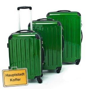 3er Kofferset Hartschale Trolleys grün-Hochglanz
