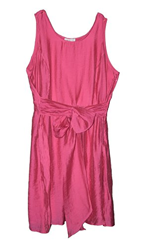 coldwater-creek-womens-belted-fit-flared-dress-plus-sz-18w-20-22-24-18w-pink