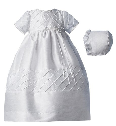 Best Lauren Madison baby girl Christening Baptism Newborn Taffeta Gown, White, 6-9 Months  Best Offer