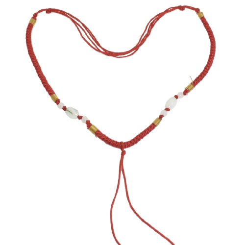 Rosallini 5 Pcs Lady Red Braid Plastic Beads No Pendant Necklace String Chain