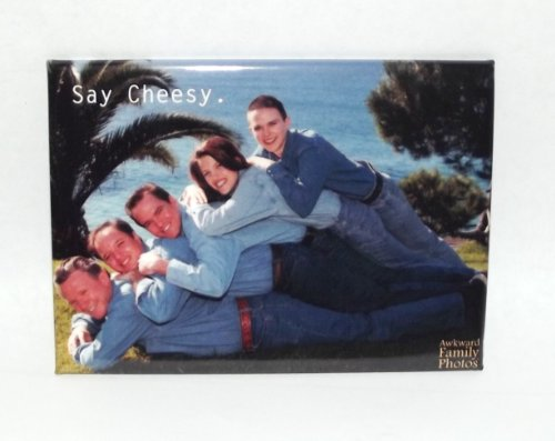 Awkward Family Photo: Say Cheesy Magnet-1 piece