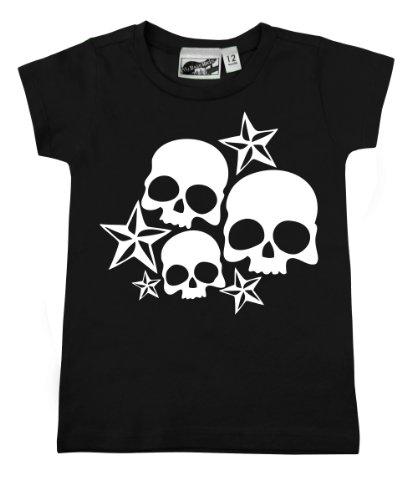 Nautical Stars & Skulls Black & White Baby & Toddler T-Shirt (2T) front-1065400