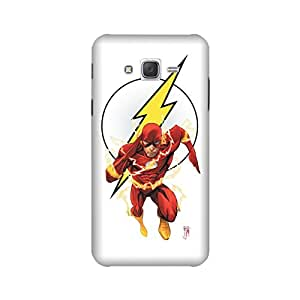 Samsung Galaxy J7 2015 Edition Designer Printed Covers (Samsung Galaxy J7 2015 Edition Back Cover) - Superhero Flash