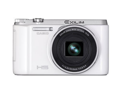 CASIO Digital Camera EXILIM ZR1000 White EX-ZR1000WE