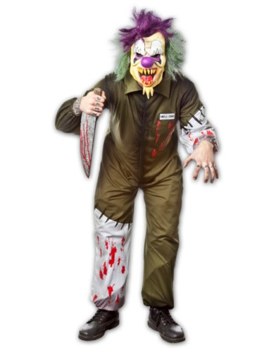 Adult Unisex Horror Killer Scary Clown Costume