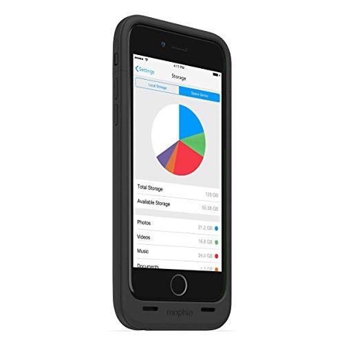 日本正規代理店品・保証付mophie space pack for iPhone 6 32GB (ストレージ内蔵バッテリーケース) ブラック MOP-PH-000100