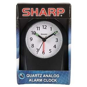 sharp quartz analog alarm clock home kitchen. Black Bedroom Furniture Sets. Home Design Ideas